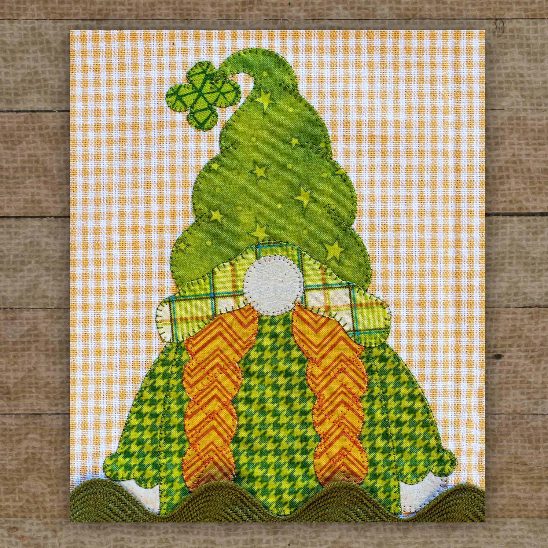 Shamrock Gnome Precut Fused Applique Pack