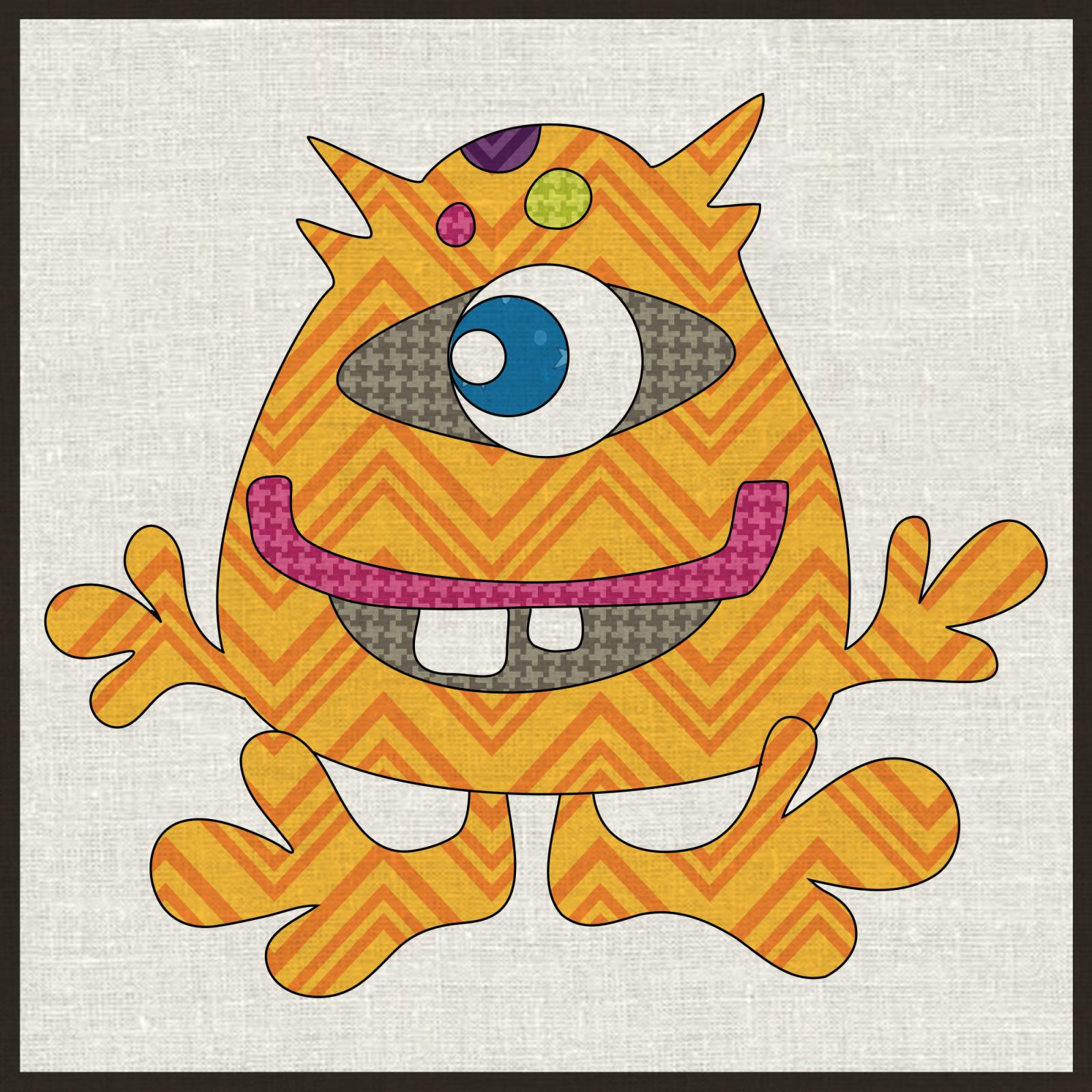 Single Eye Monster Precut Fused Applique Kit
