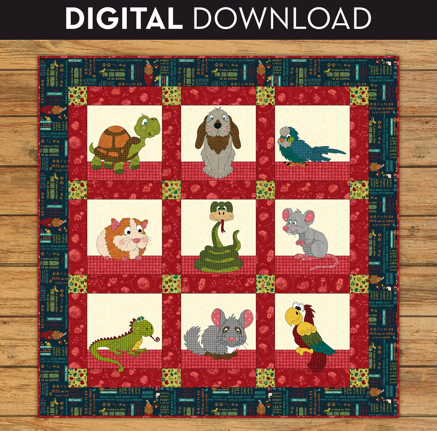 Small Critter Rescue Quilt - Download