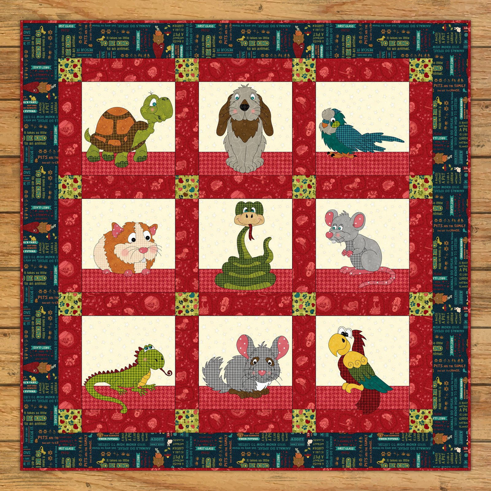 Small Critter Rescue Quilt Kit
