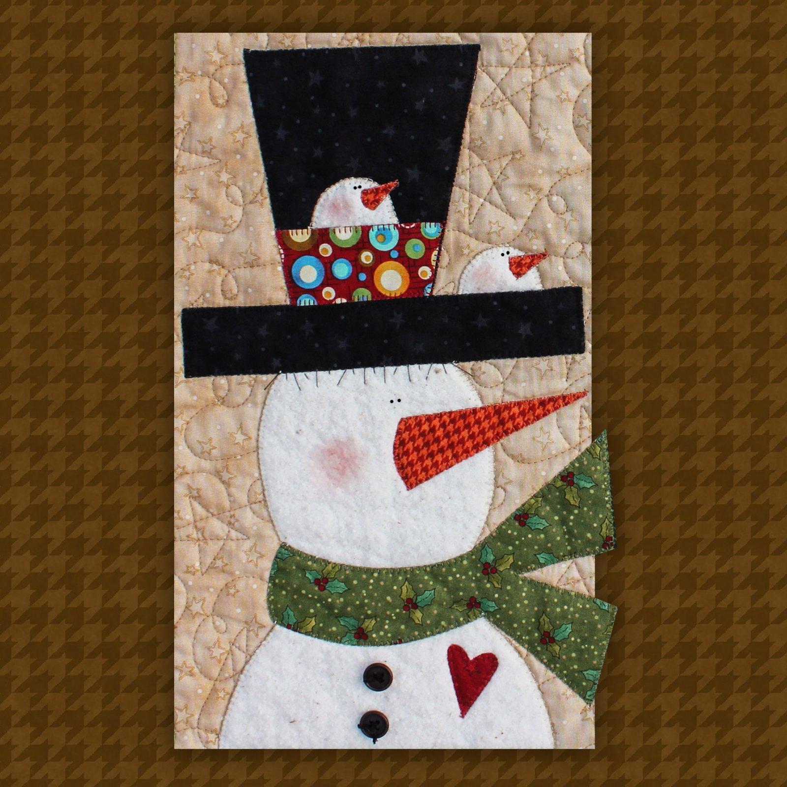 Snowman Precut Fused Applique Kit