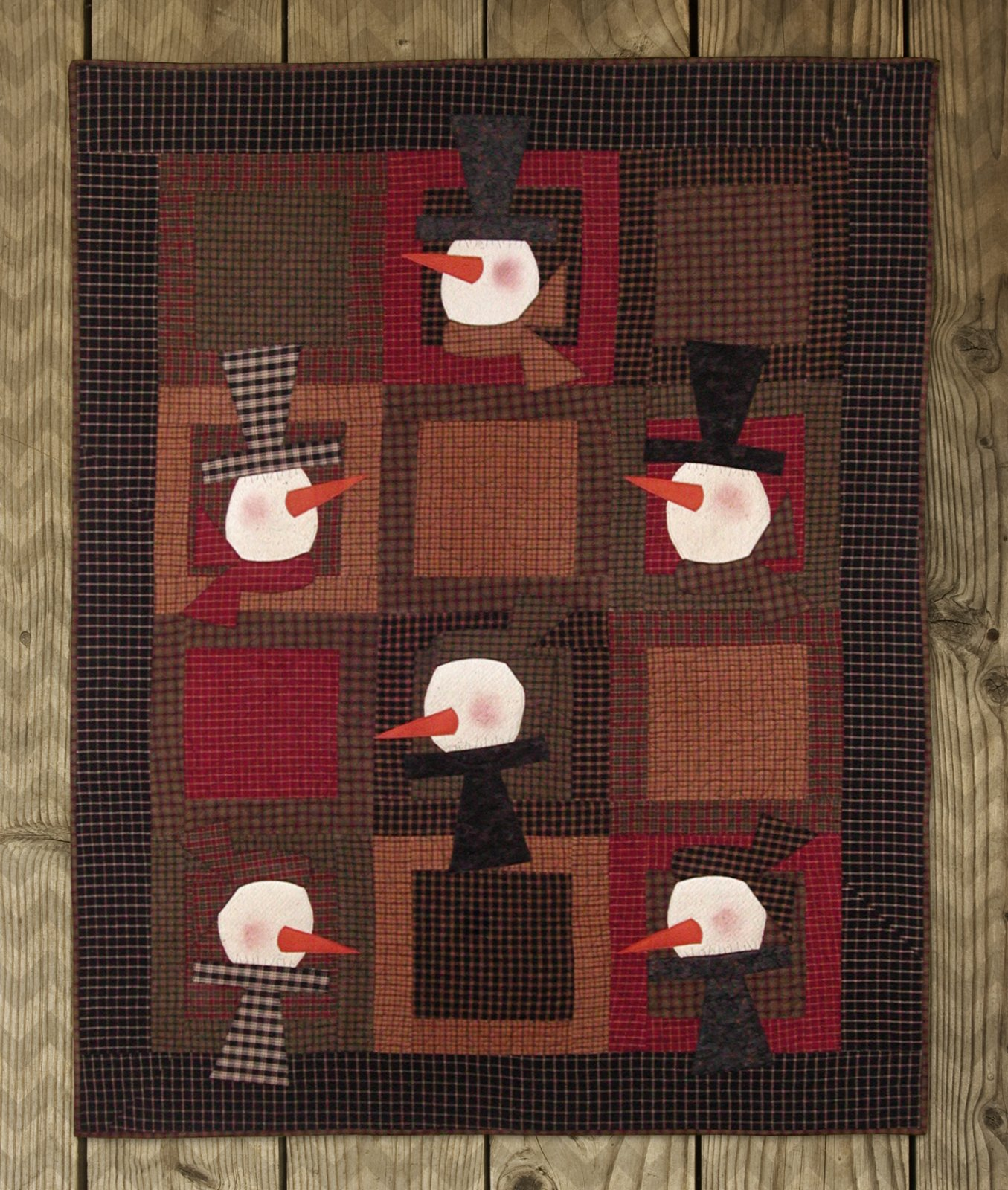 Snowmen in Plaid