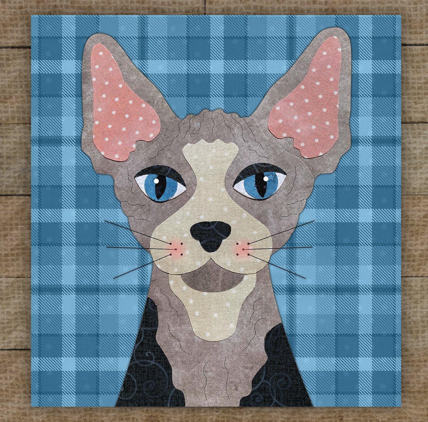Sphynx Cat Precut Fused Applique Kit