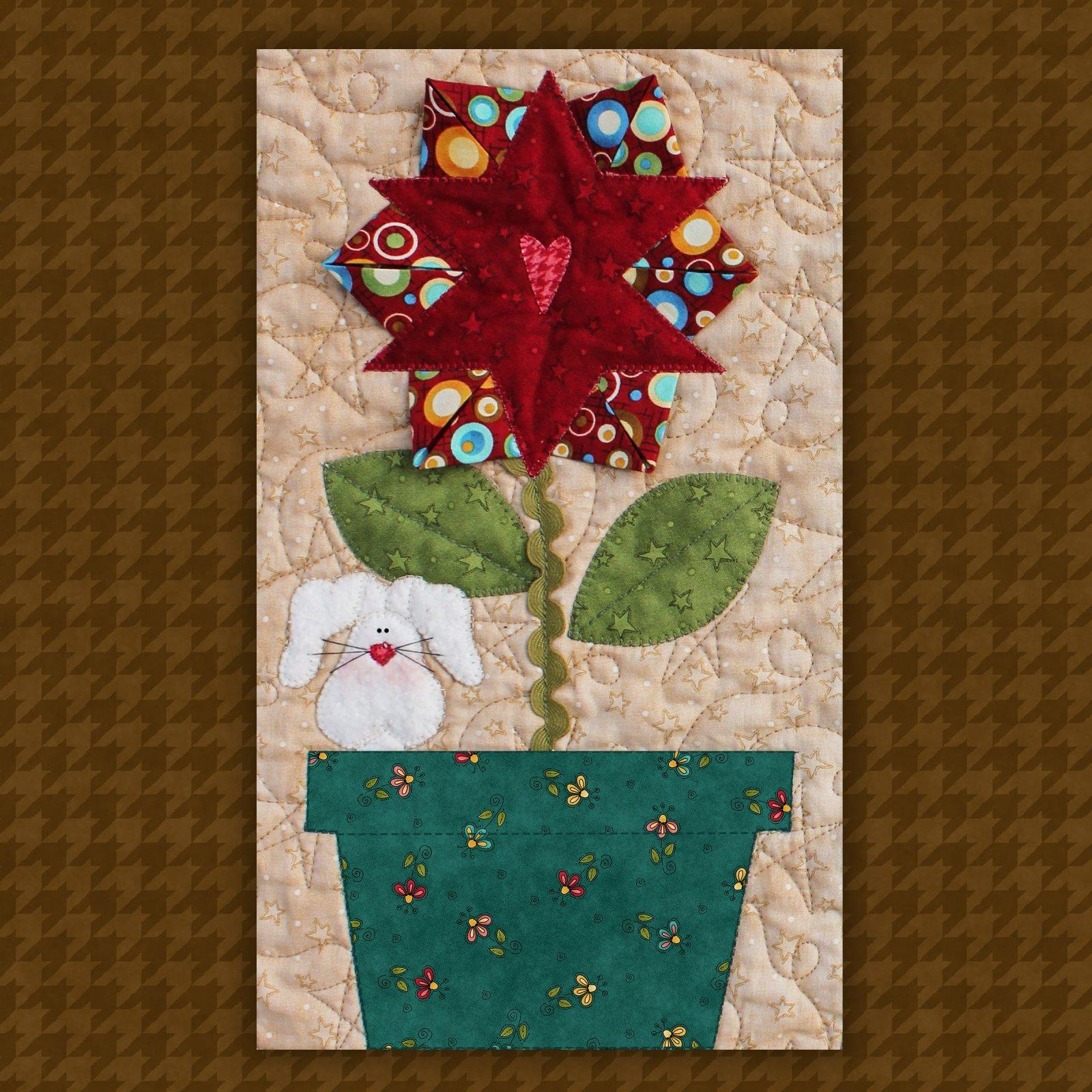 Star Flower & Bunny Precut Fused Applique Kit