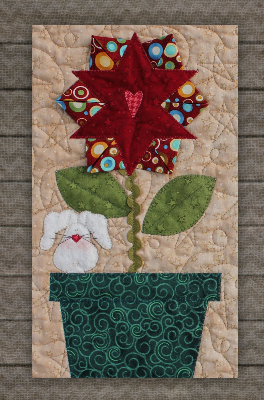 Star Flower & Bunny Precut Fused Applique Kit