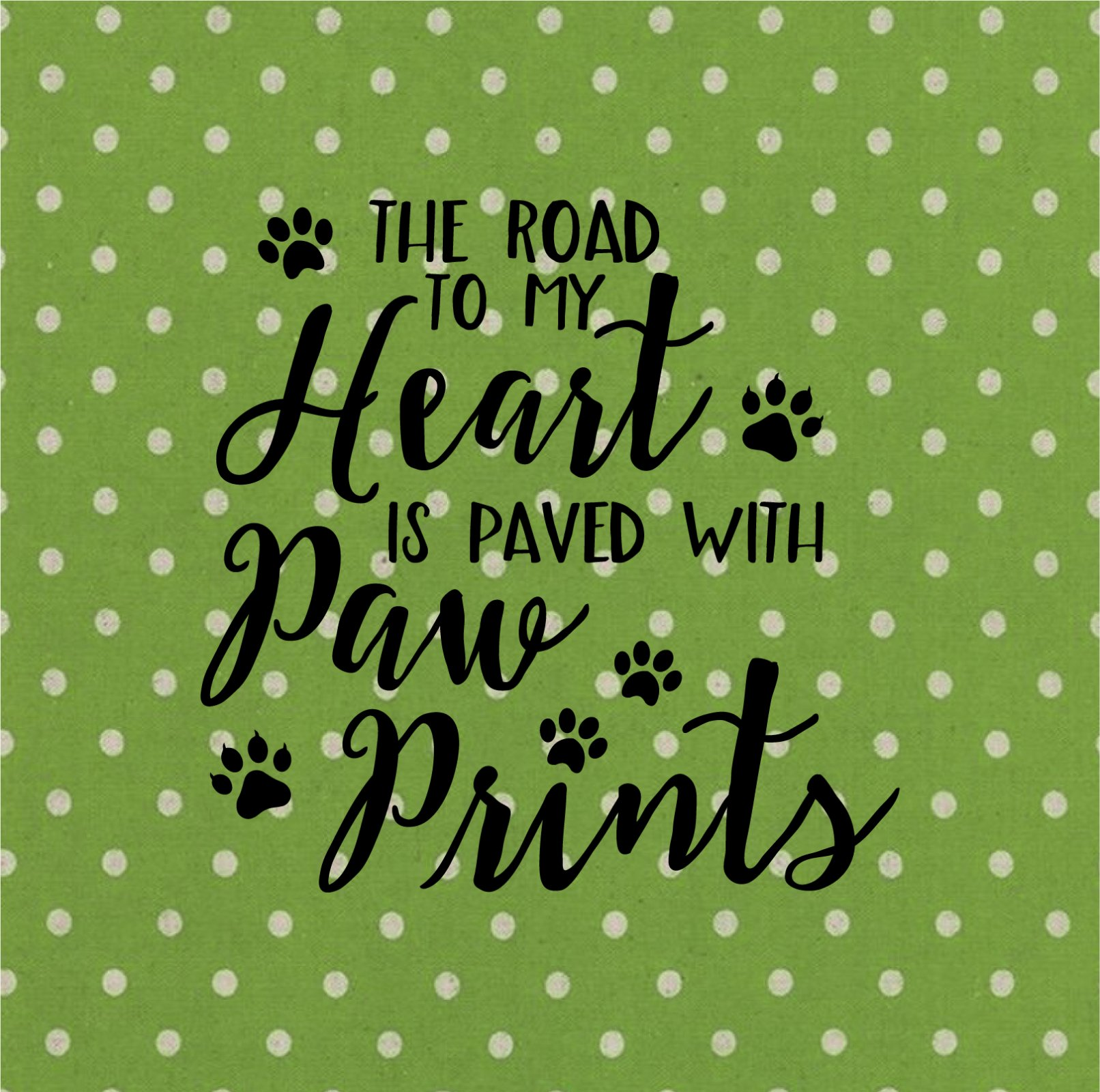The Road To My Heart Screen Printed Panel