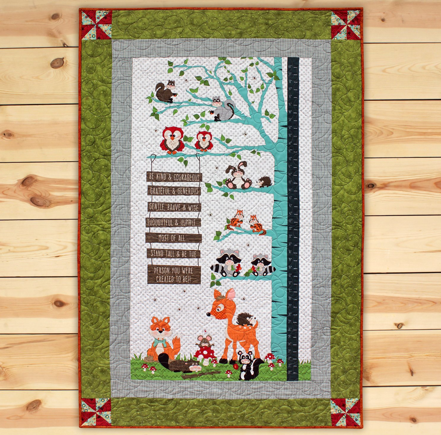 To Be Growth Chart Panel Quilt