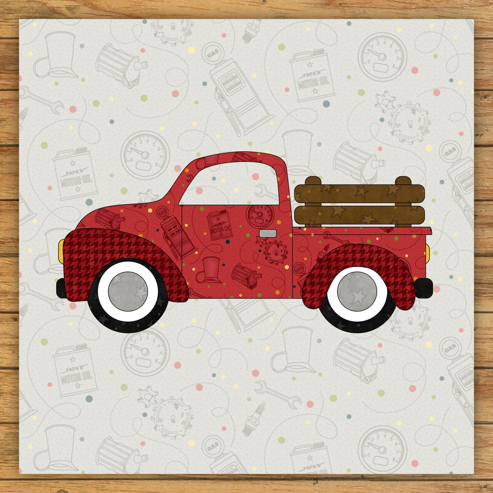 Farm Truck Precut Fused Applique Kit