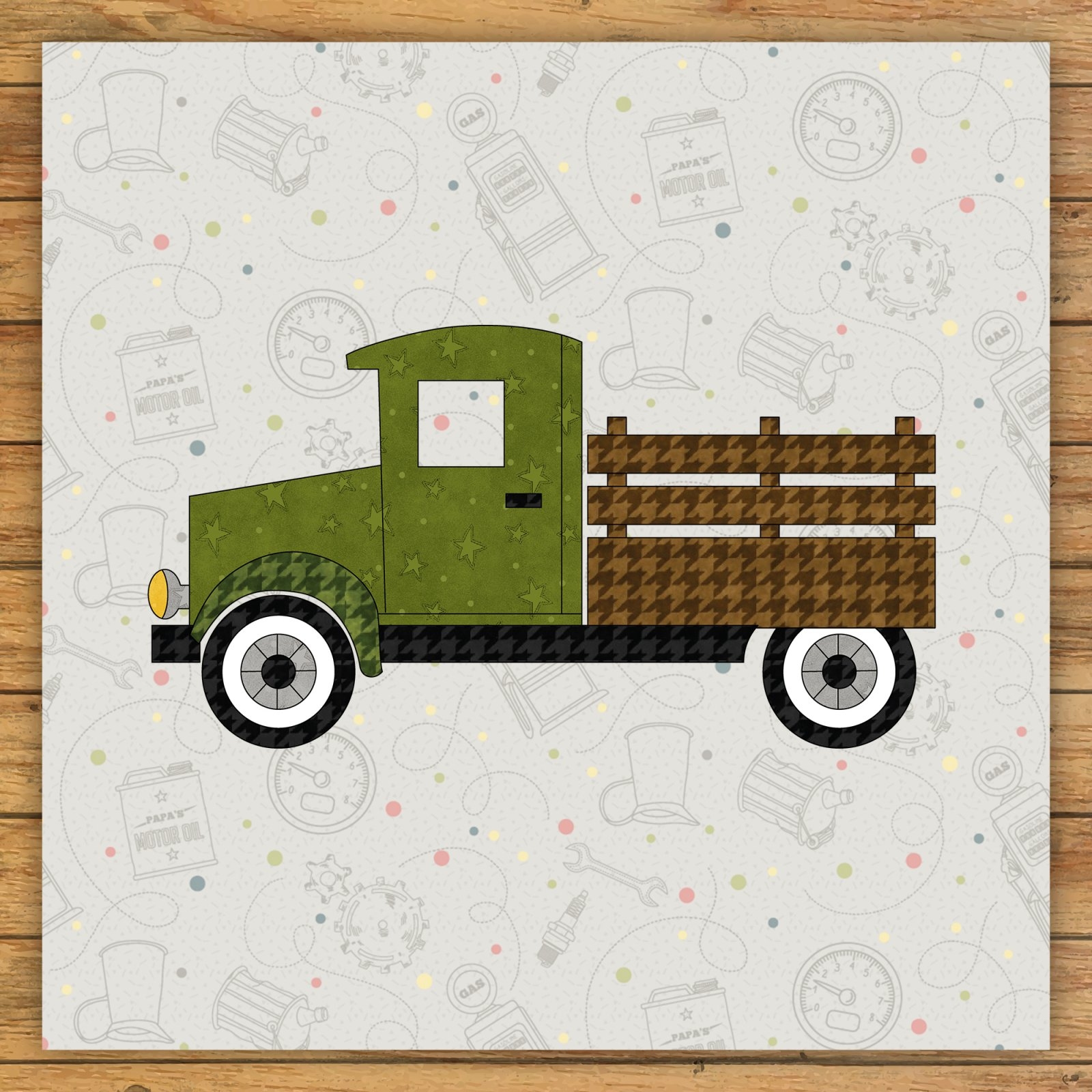 Market Truck Precut Fused Applique Kit