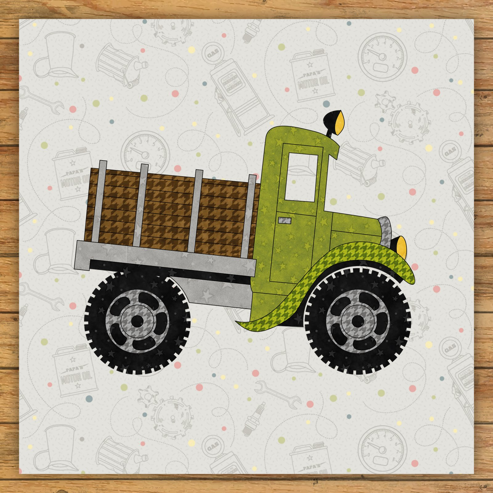 Monster Truck Precut Fused Applique Kit