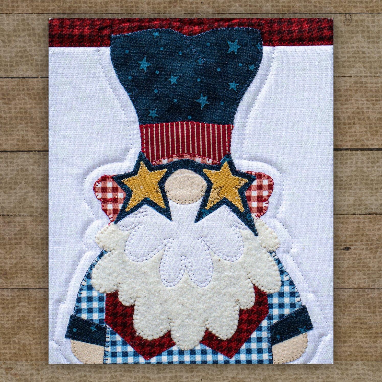 Uncle Sam Gnome Precut Fused Applique Pack