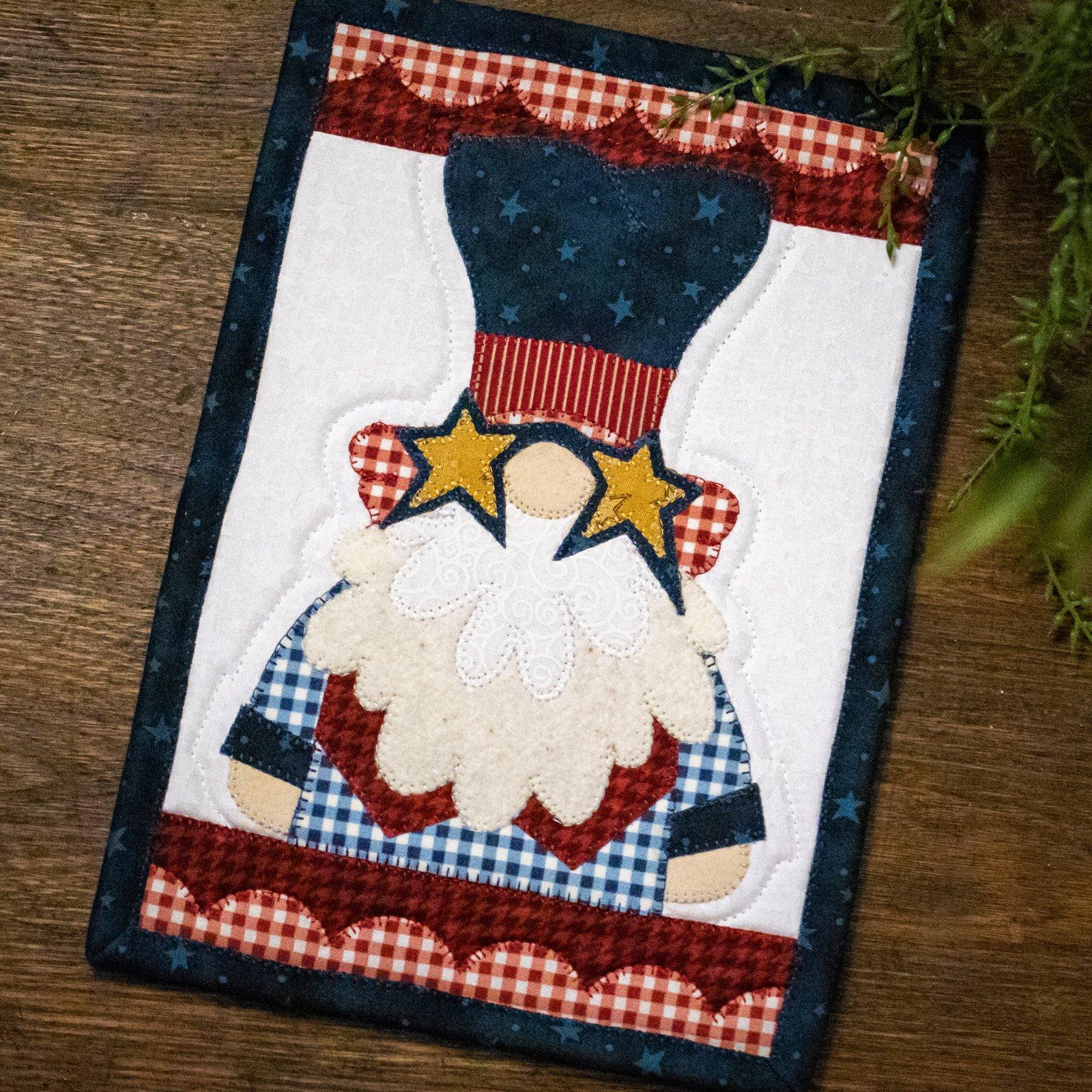 Uncle Sam Gnome Mug Rug Kit