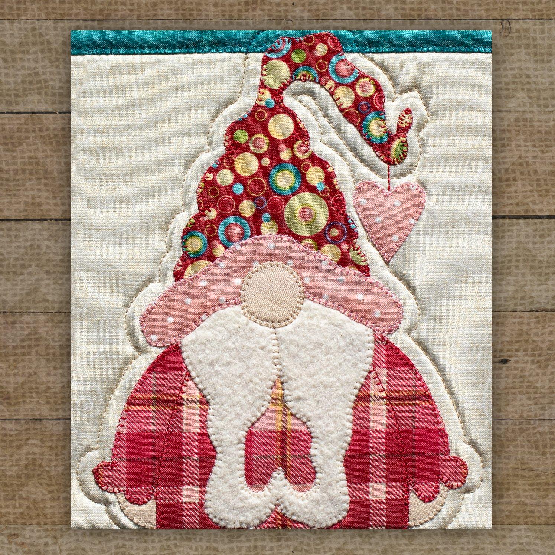 Valentine Gnome Precut Fused Applique Pack
