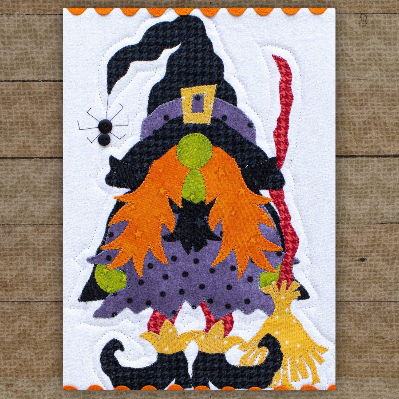 Wanda the Witch Gnome Precut Fused Applique Pack
