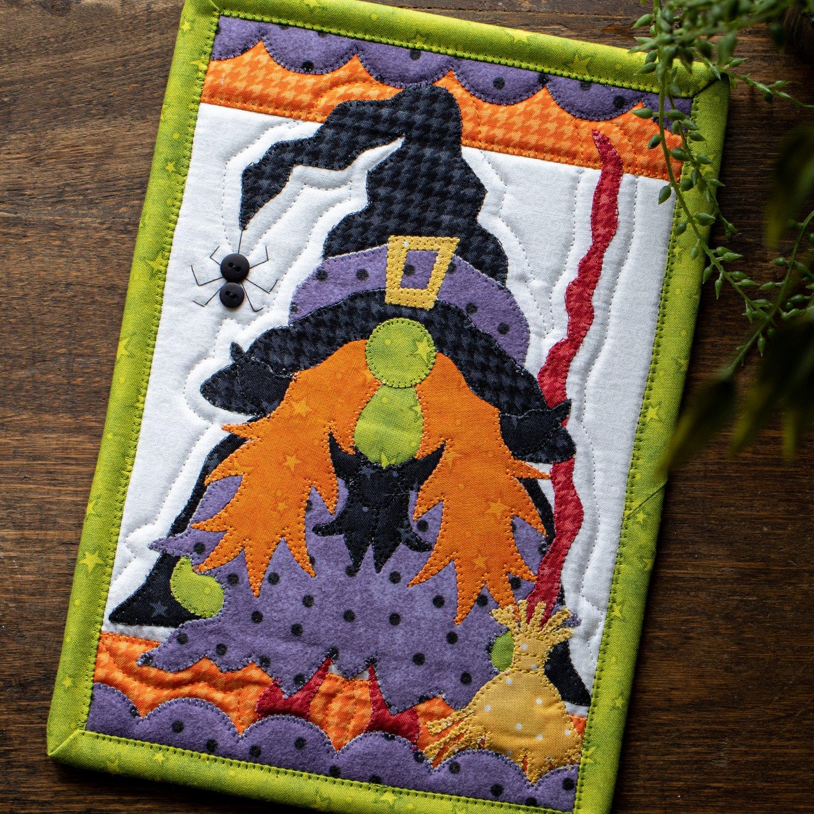 Wanda the Witch Gnome Mug Rug Kit
