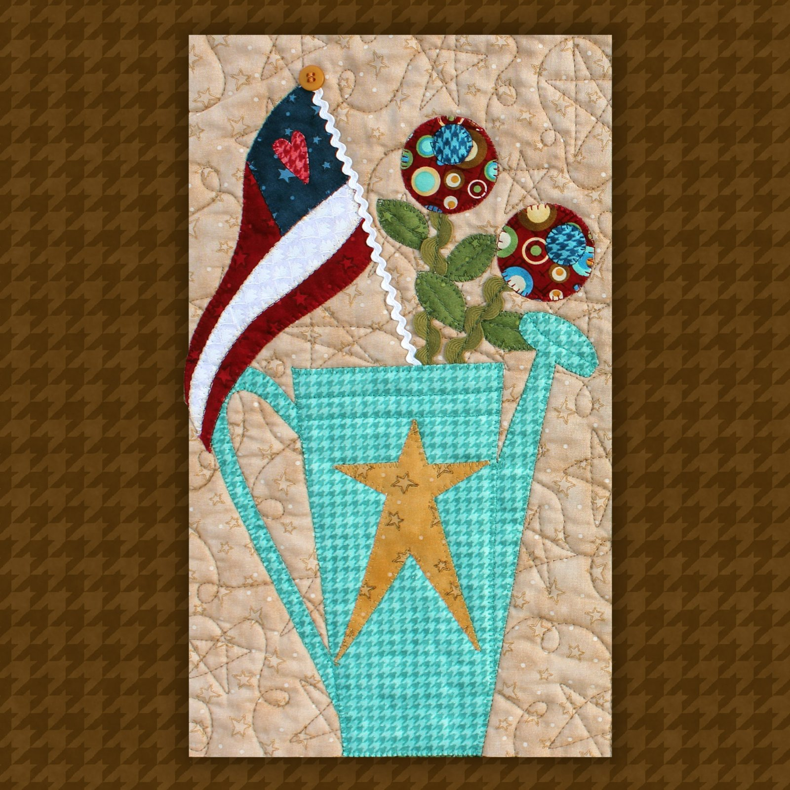 Watering Can Precut Fused Applique Kit