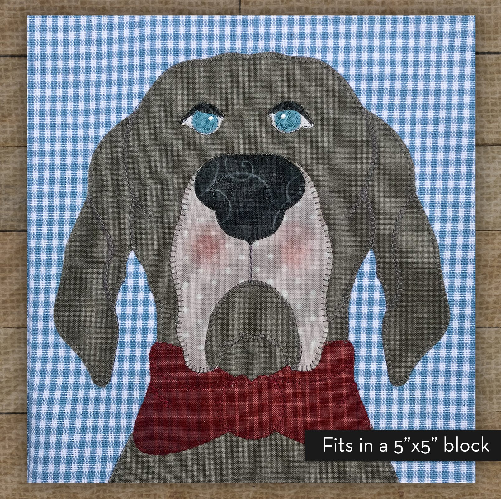 Small Weimaraner - Precut Fused Applique Kit