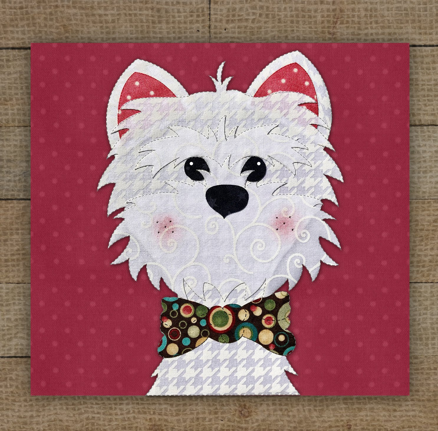 Westie Precut Fused Applique Kit