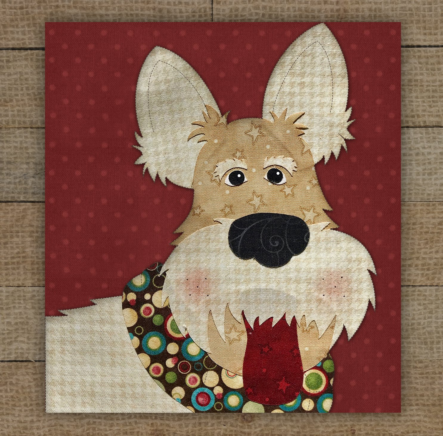 Wheaten Scottish Terrier Precut Fused Applique Kit