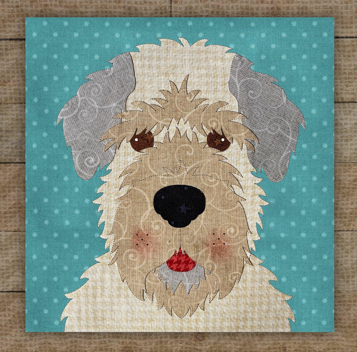 Wheaten Terrier Cream Precut Fused Applique Kit