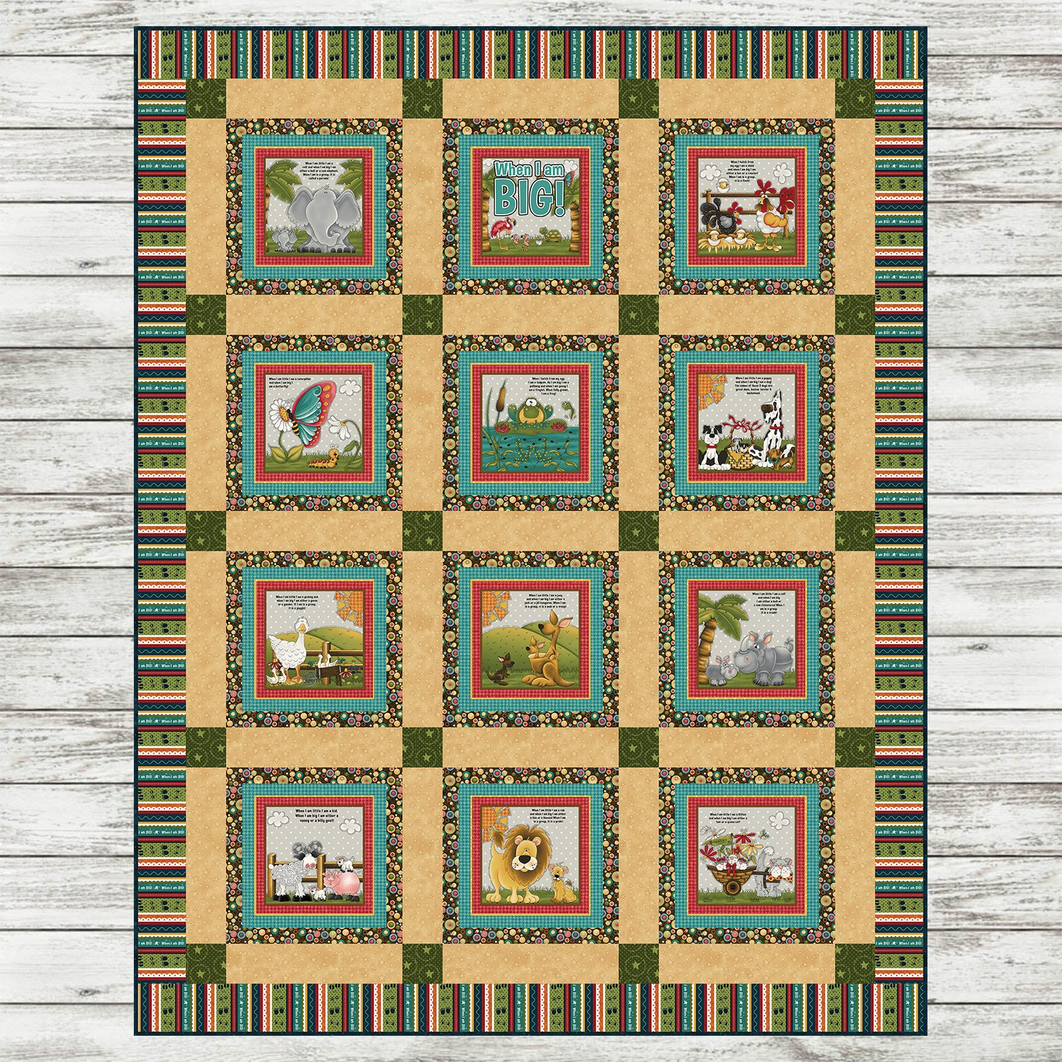 When I am BIG - Book Quilt Kit - Green Version