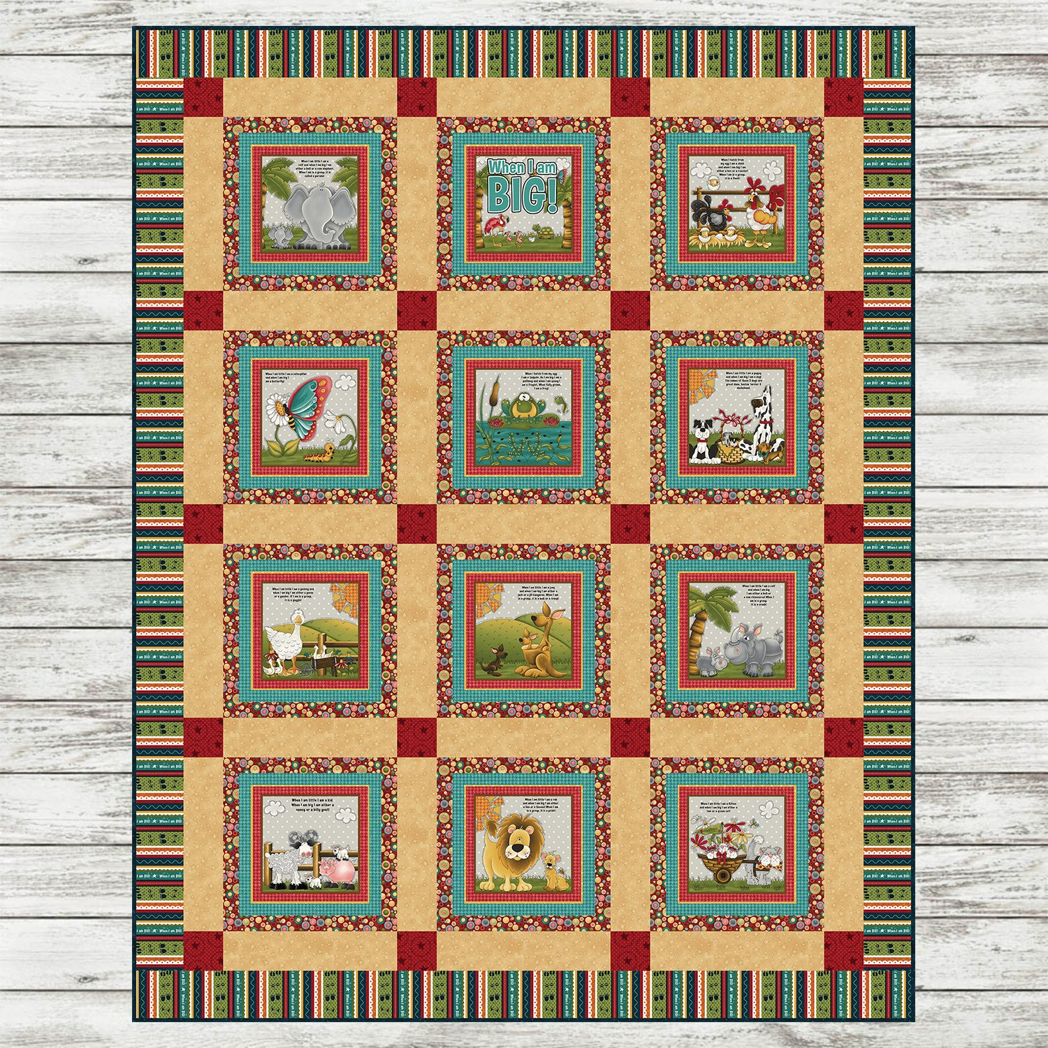 When I am BIG - Book Quilt Kit - Red Version