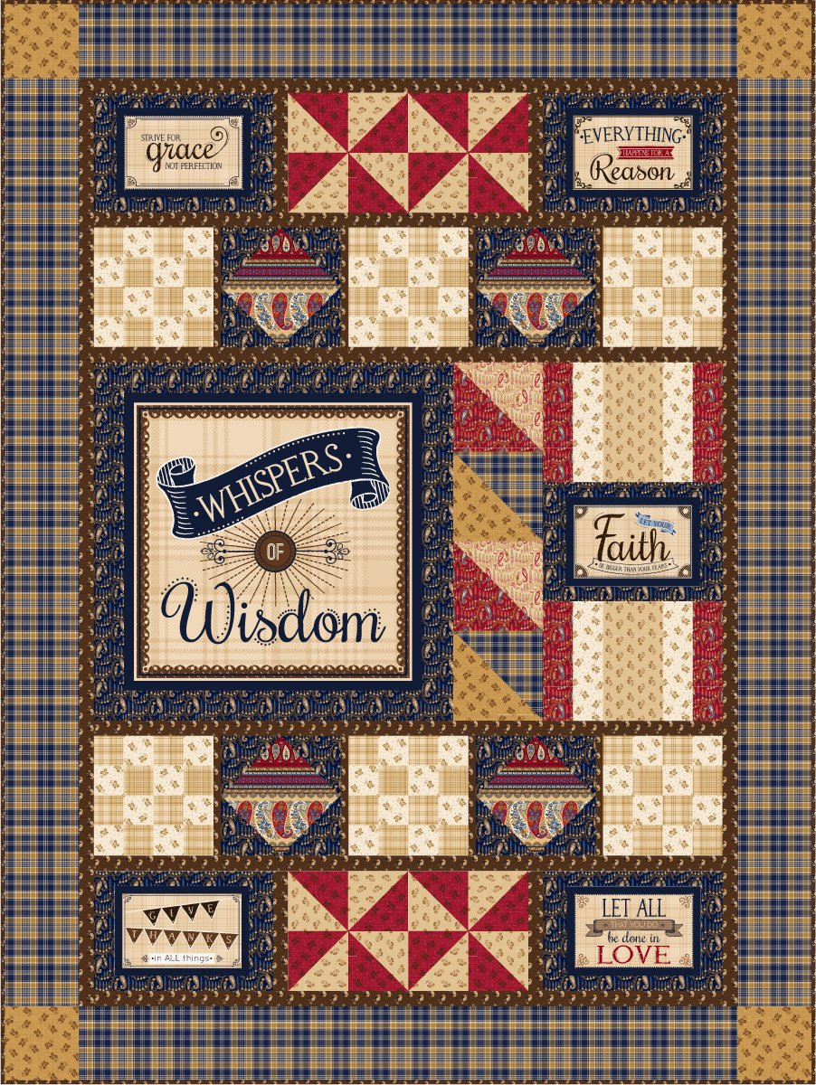 Whispers of Wisdom Panel Quilt Kit