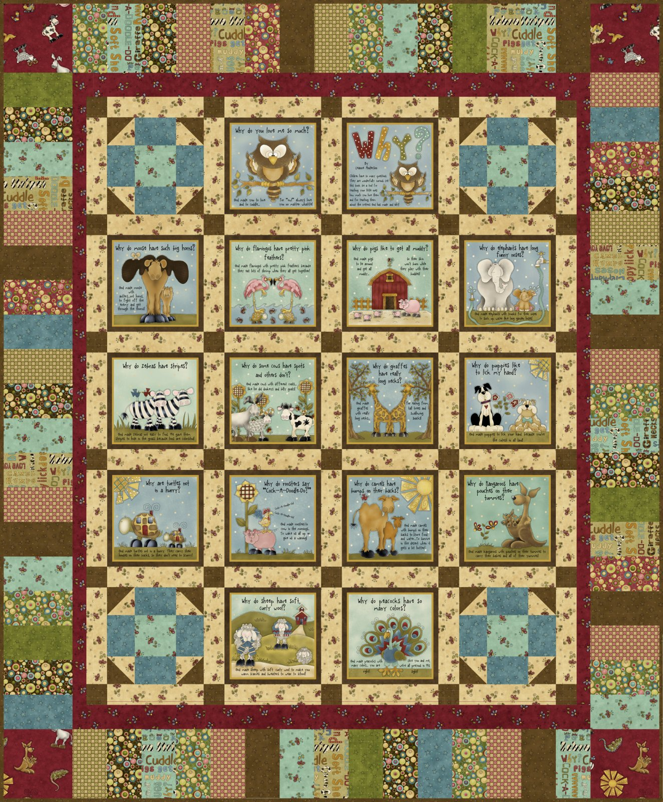 Why Book Panel Quilt Kit