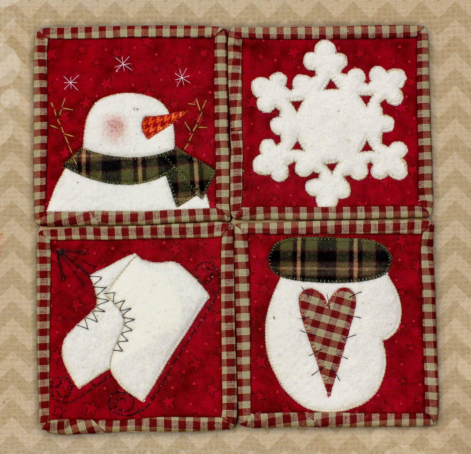 Winter Coaster Mug Applique Kit with Precuts