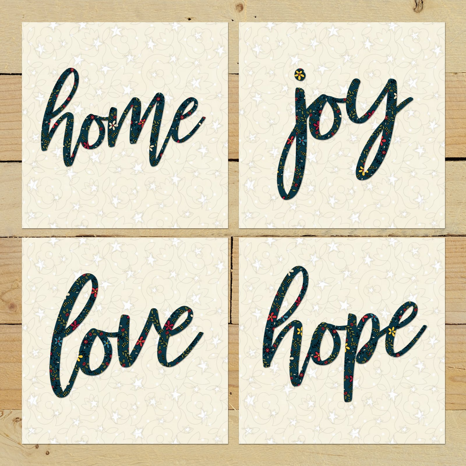 Home Joy Love Hope Precut Fused Applique Kit