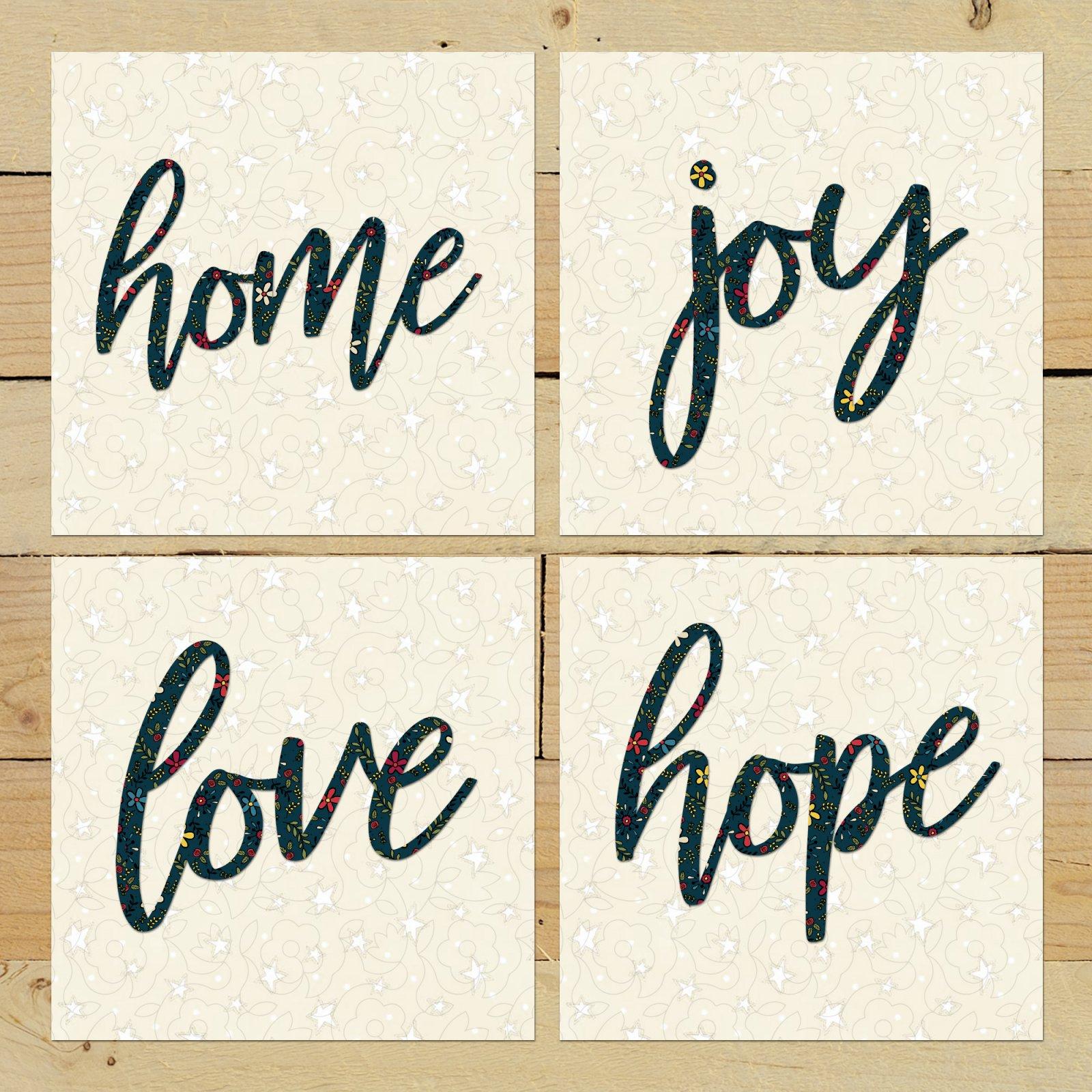 Home Joy Love Hope - Pattern