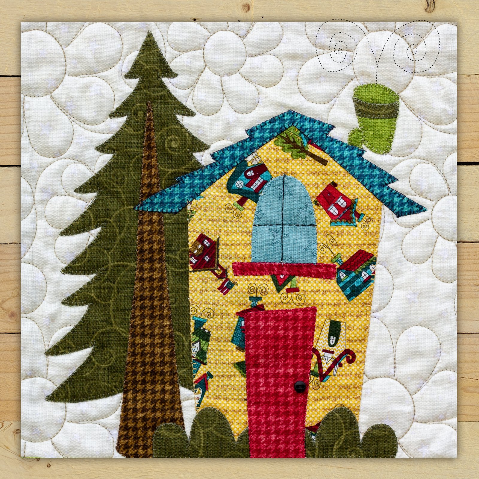 Yellow House Precut Fused Applique Kit