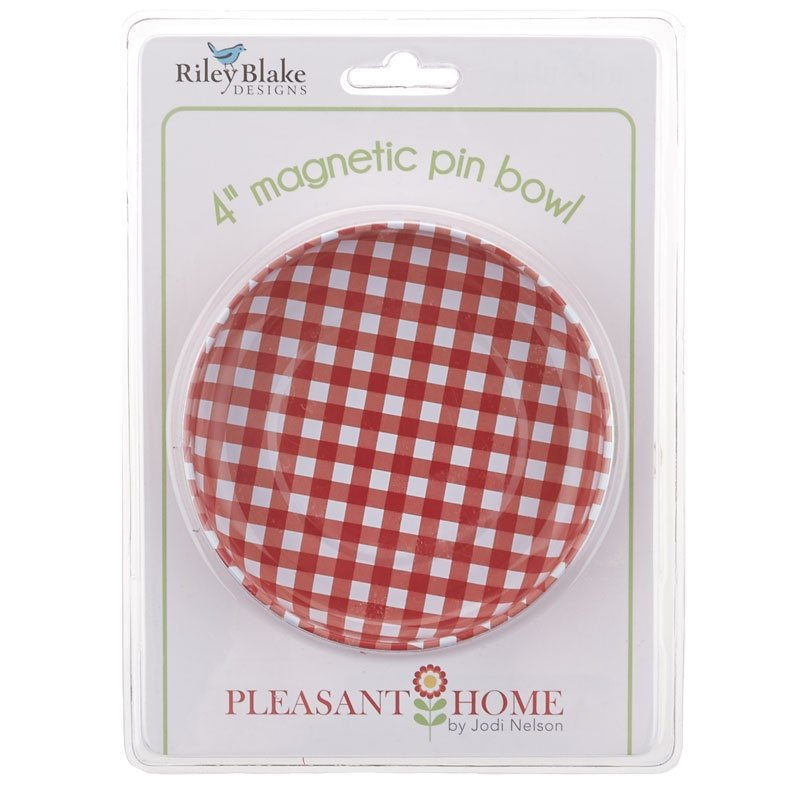 4 Magnetic Pin Bowl By Pleasant Home for Riley Blake Designs Red Plaid