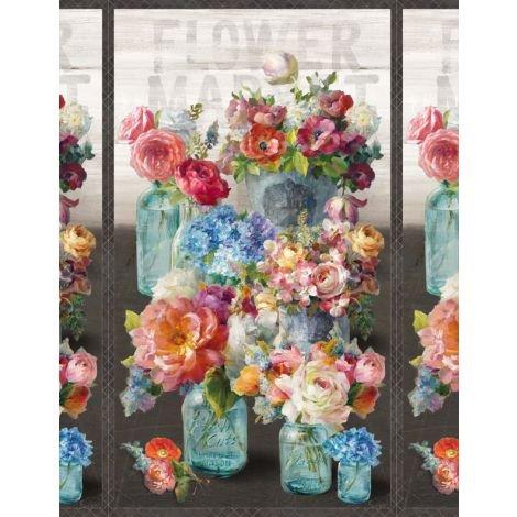 Flower Market by Wilmington Prints 89206-934