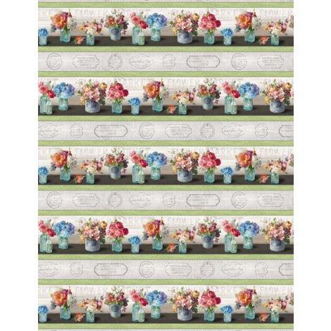 Flower Market by Wilmington Prints 89207-973