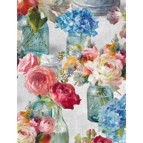 Flower Market by Wilmington Prints 89208-934