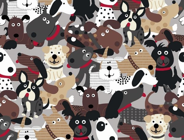 Doggie Land by Quilter's Palette 12464-MULTI