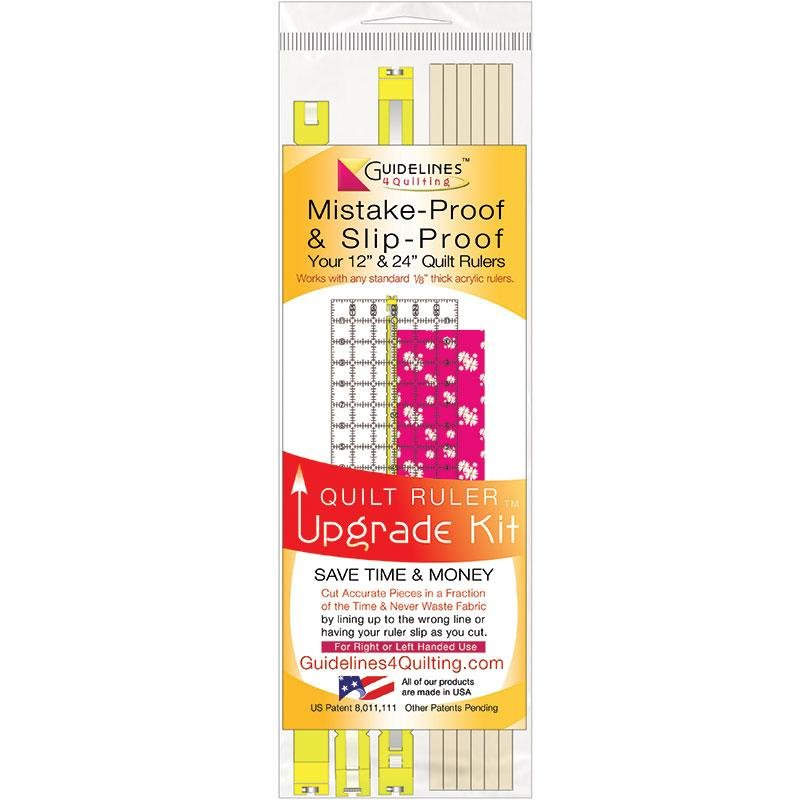 Guidelines 4 Quilting Mistake-Proof and Slip-Proof 12 and 24 Quilt Ruler Upgrade Kit 062216