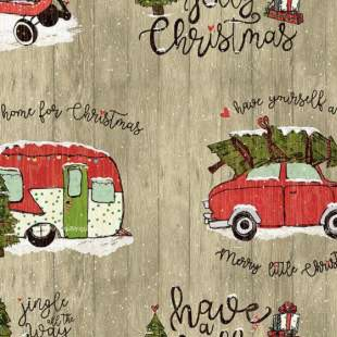 Christmas Travel by Amylee Weeks for Quilter's Palette 13855-TAN