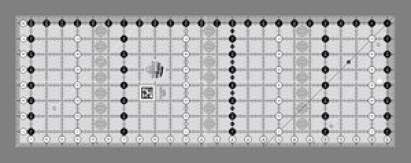 Creative Grids Non-Slip 6.5 x 24.5 Ruler