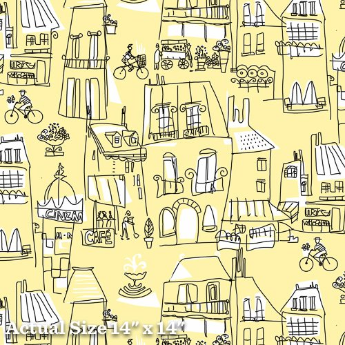 An American In Paris Yardage Fabric for Andover Fabric 8268 - Y