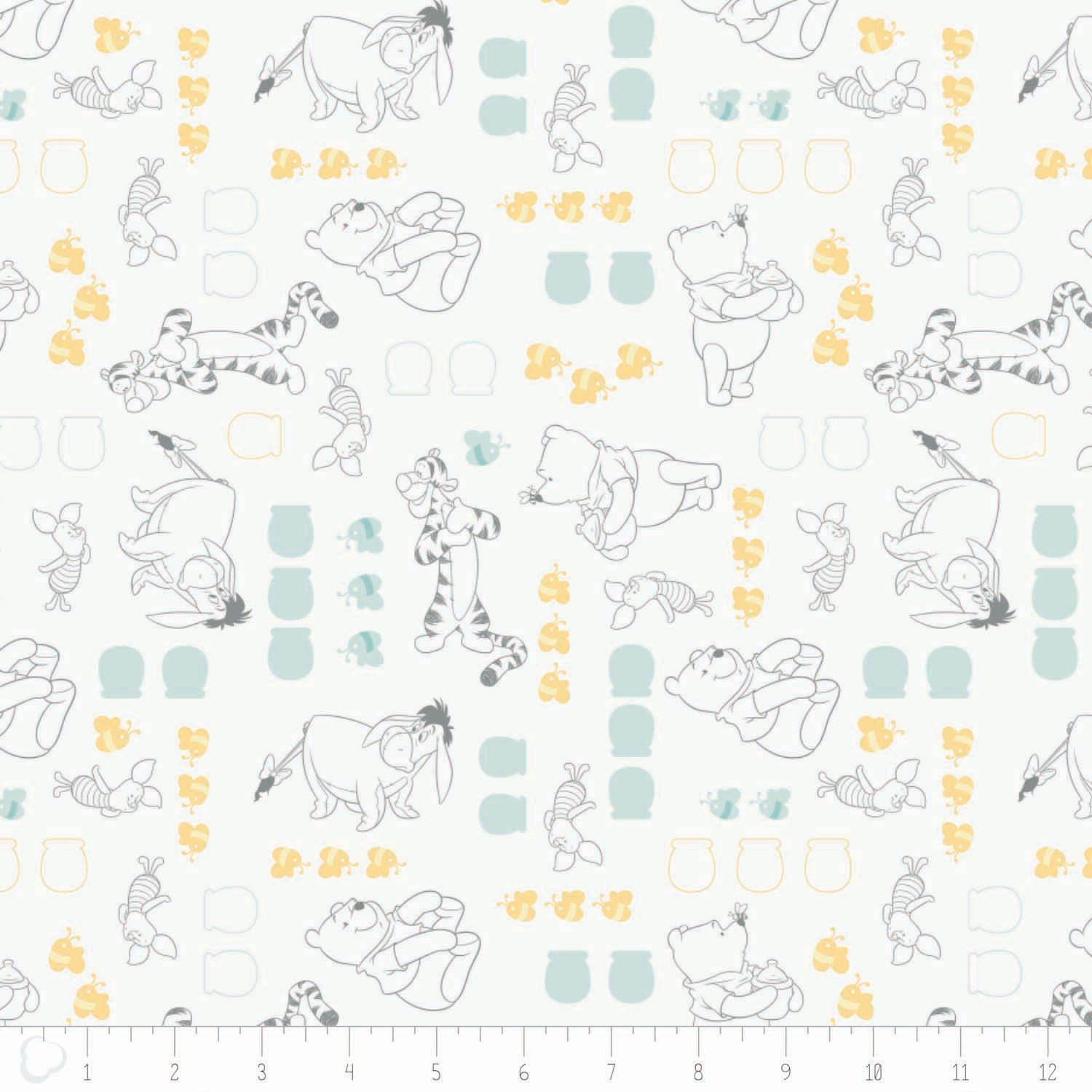 Winnie the Pooh & Friends Yardage Fabric by Camelot Design Studio - Disney for Camelot Fabric 85430101 - 2