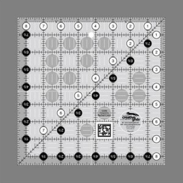 Creative Grids Non-Slip 8.5 x 8.5 Ruler
