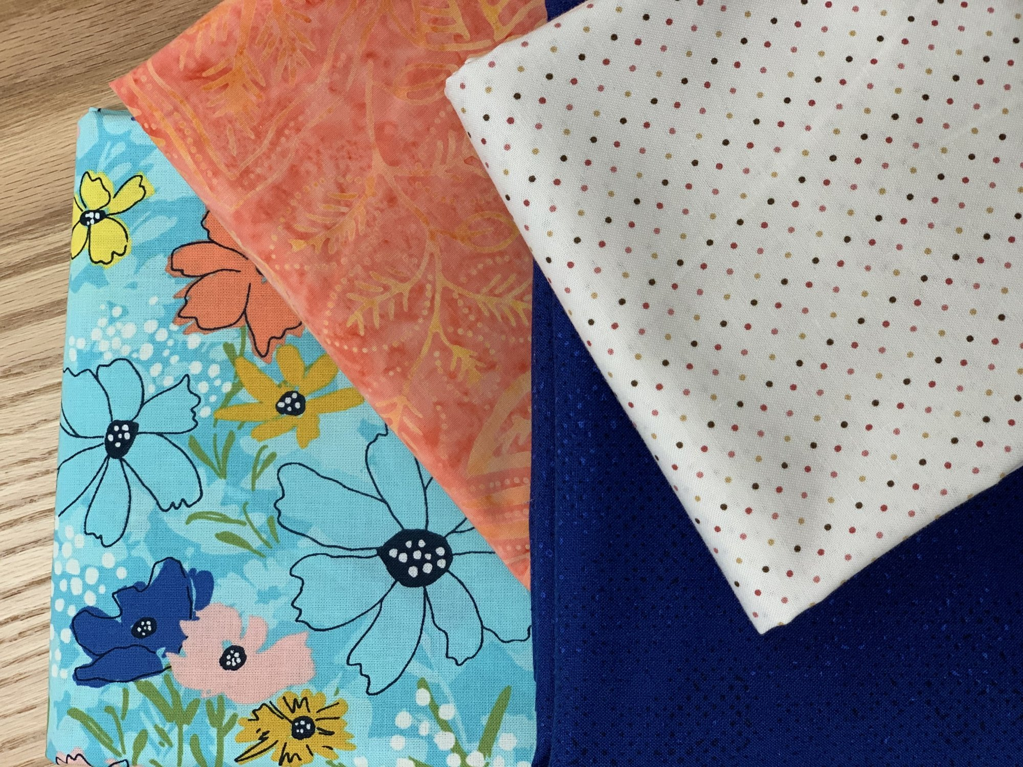 Virtual Mystery Quilt Blue Floral Kit