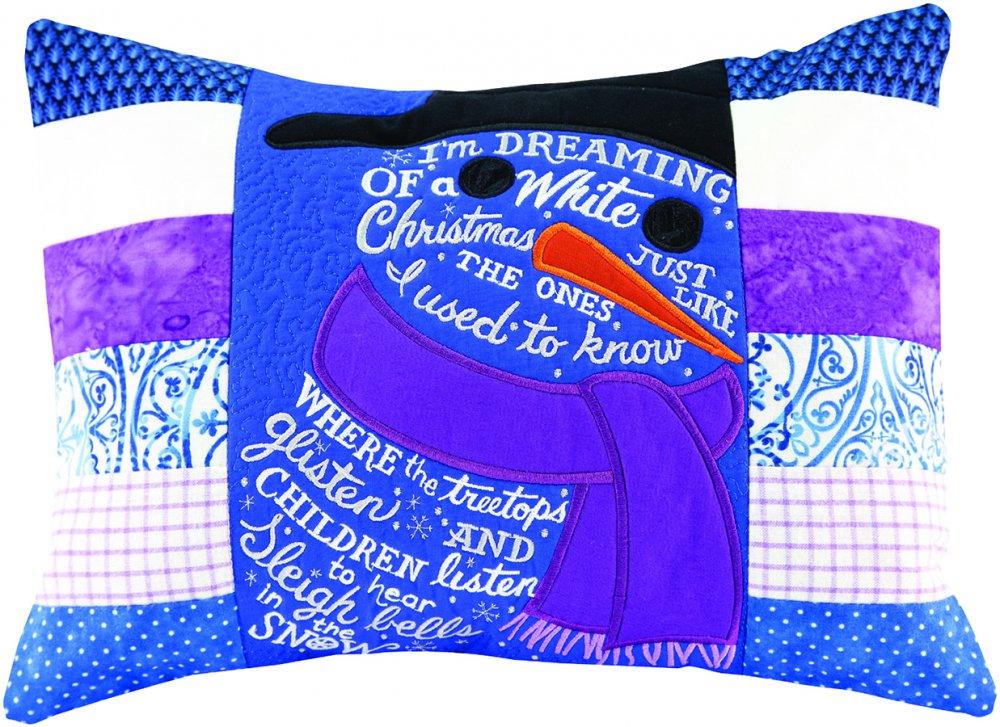 Anitas Embroidery Workshop Snowman Pillowcase Tulsa