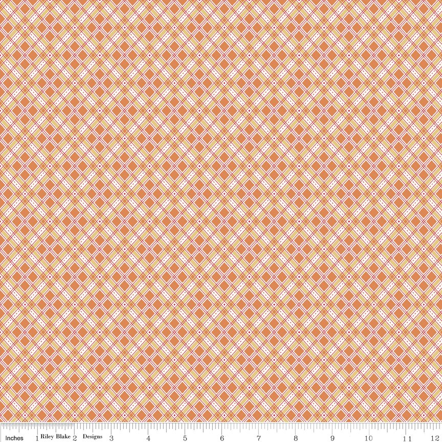 Autumn Love by Lorie Holt Riley Blake Designs C7364 ORANGE