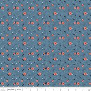 Hedge Rose from Penny Rose Fabrics C7902 BLUE