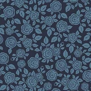 Hedge Rose from Penny Rose Fabrics C7903 NAVY