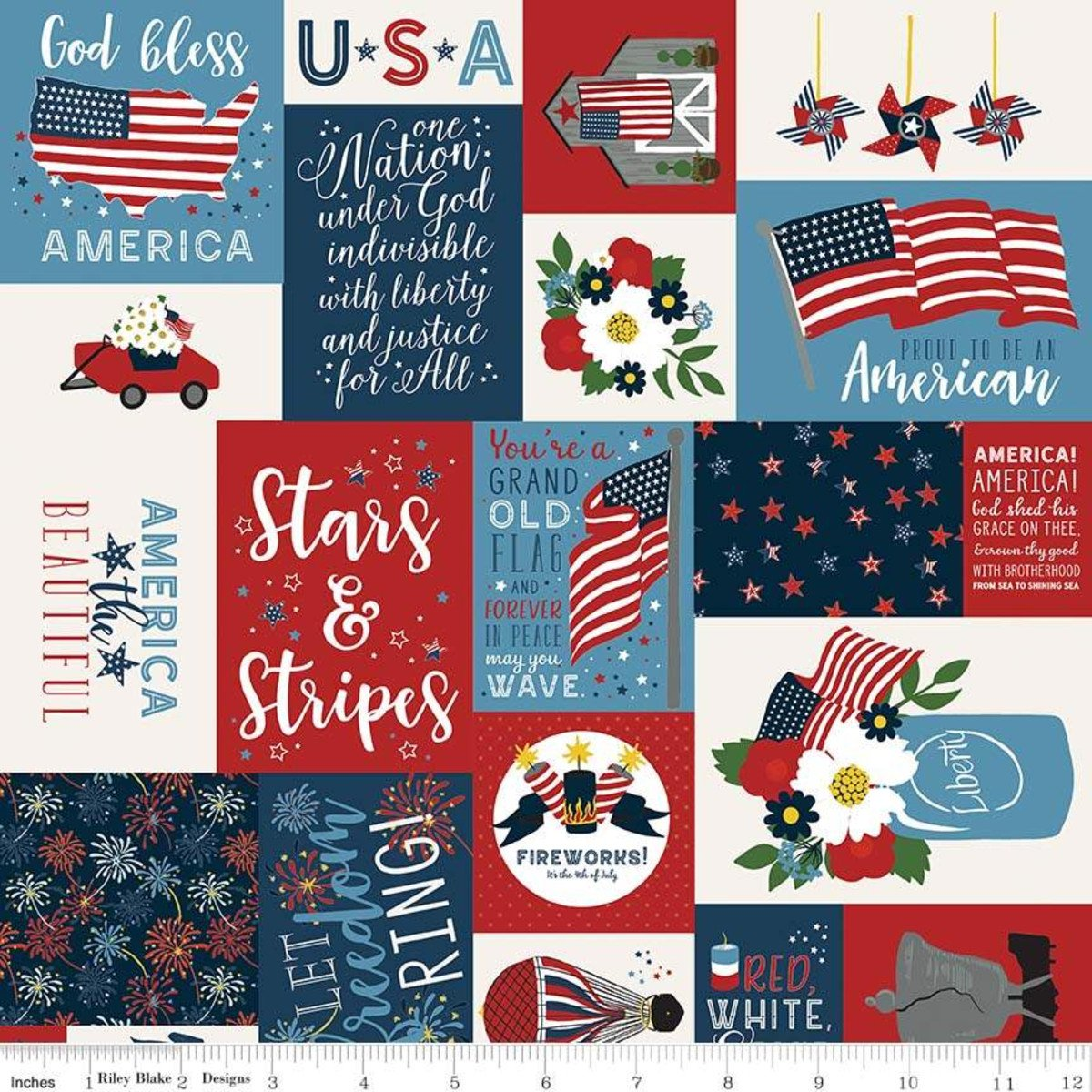 Celebrate America by Riley Blake Designs C8280 MULTI