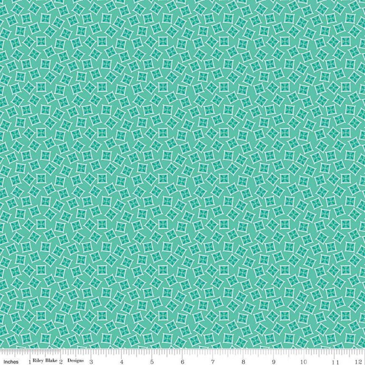 Vintage Happy 2 by Lori Holt for Riley Blake C9139-SEAGLASS